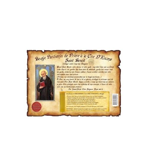 Parchemin de cire à l'encens Saint Benoit