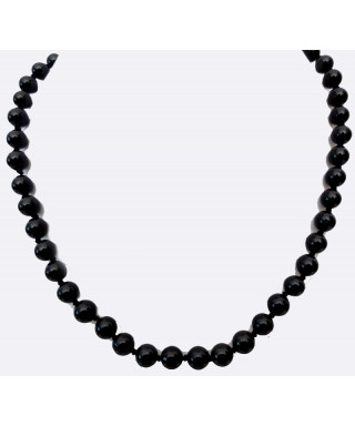 Collier onyx pierres rondes 8 mm