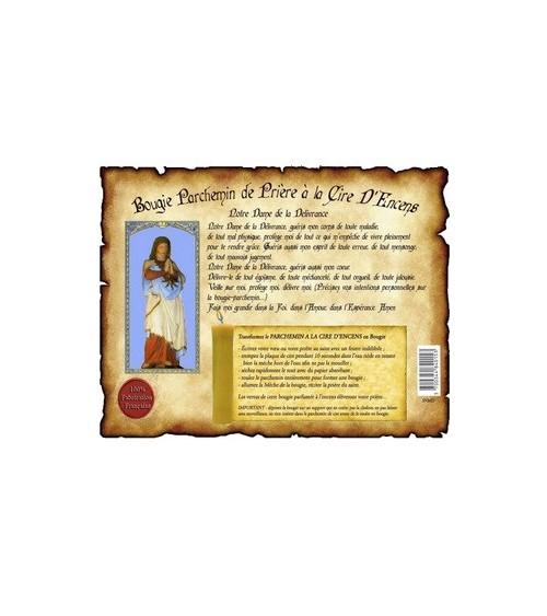 Parchemin de cire à l'encens Notre Dame de la Délivrance