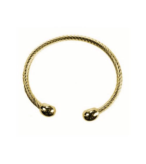 Bracelet magnétique en laiton doré
