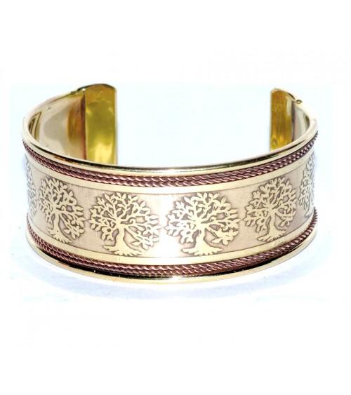 Bracelet Arbre de Vie en laiton doré