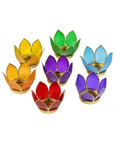 Lot de 7 bougeoirs Lotus