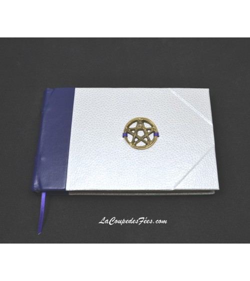Mini Grimoire Violet & Blanc