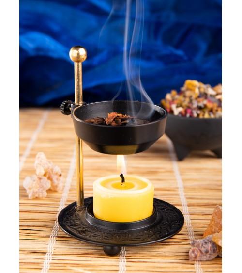 Encensoir noir réglable à bougie