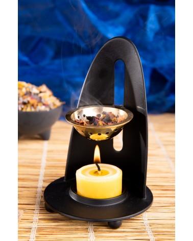 Encensoir Lunara noir réglable à bougie