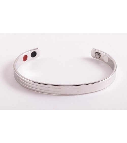 Bracelet Cuivre argenté 4 en 1 Élégance