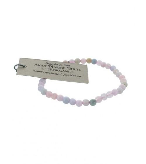 Bracelet Aigue-Marine Béryl Morganite (4 mm)