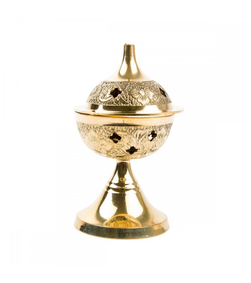 Encensoir en laiton décoré