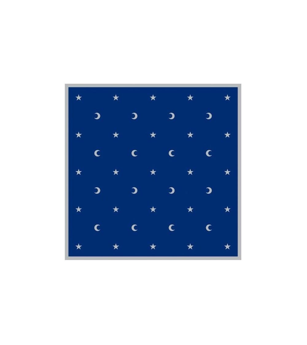 Nappe Bleue Lunes et Etoiles (80x80)