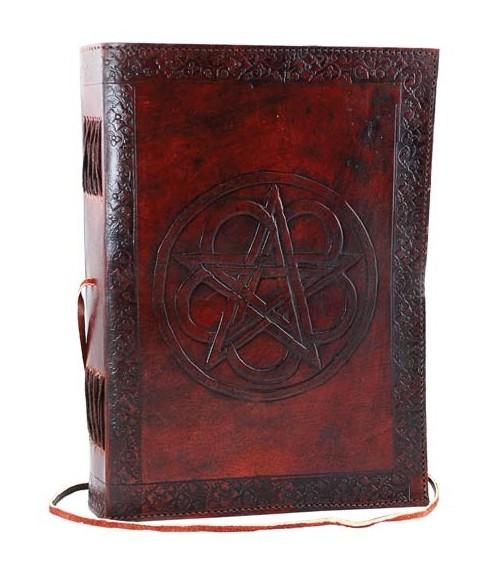 Grimoire cuir Pentagramme