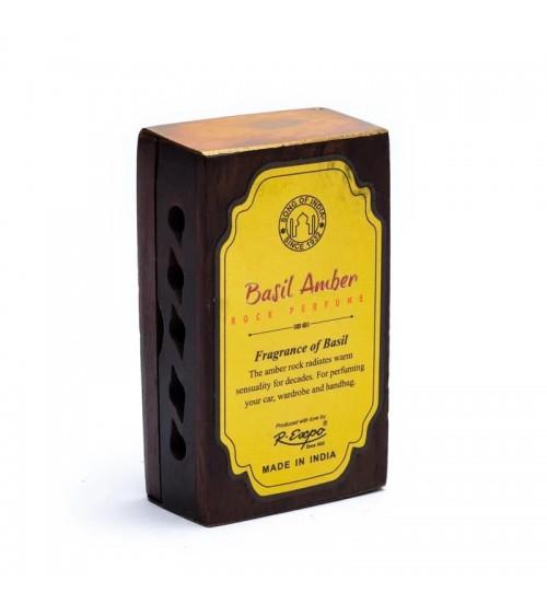 Encens Résine -Basilic Ambre + diffuseur en bois
