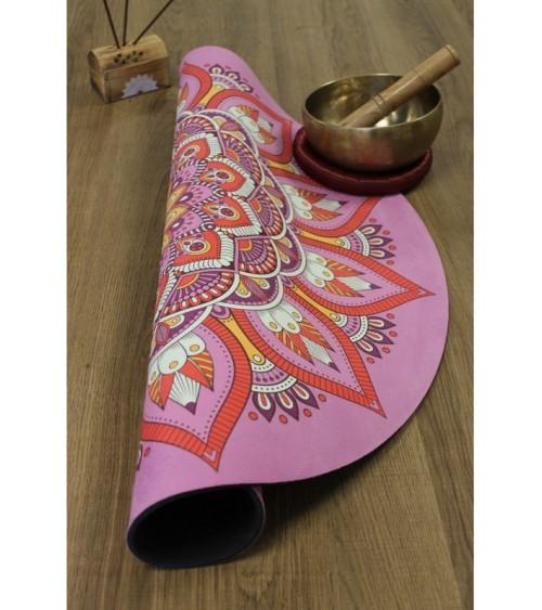 Tapis de Méditation Mandala Rose