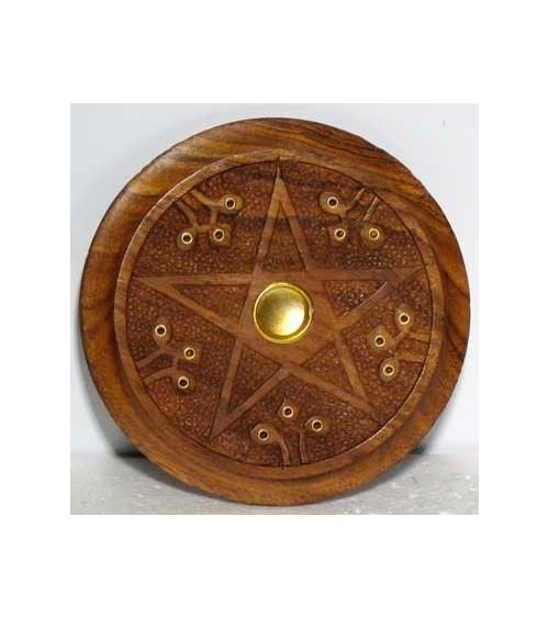 Porte Encens Pentagramme (bois)
