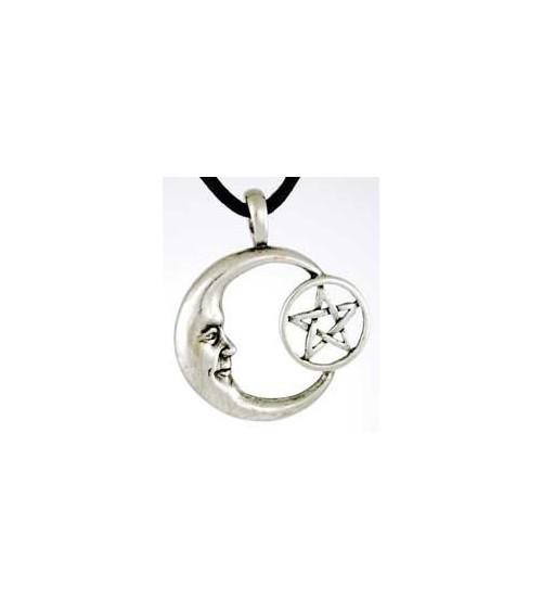 Amulette Lune Pentagramme