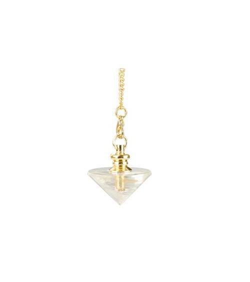 Pendule Cone Cristal de Roche