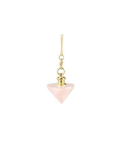 Pendule Cone Quartz Rose