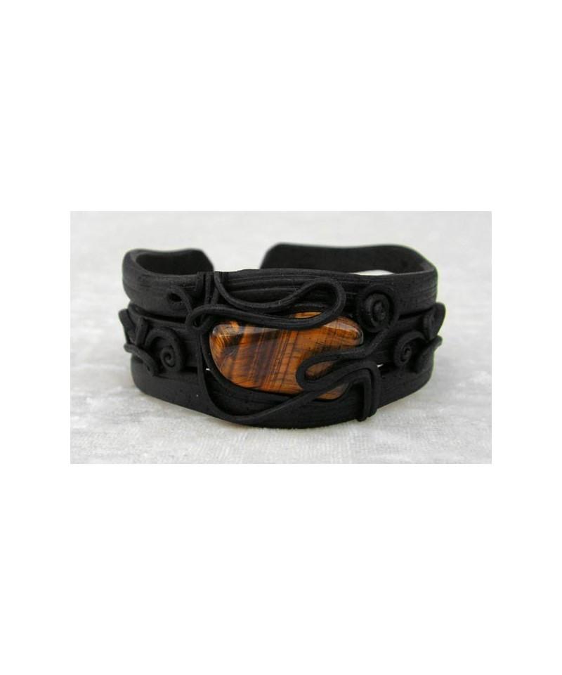 bracelet oeil de tigre r sine. Black Bedroom Furniture Sets. Home Design Ideas