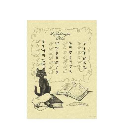Alphabet Thébain Chat Sorcier