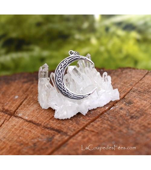Pendentif Croissant de Lune Celtique
