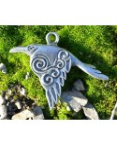 Pendentif Corbeau Celtique