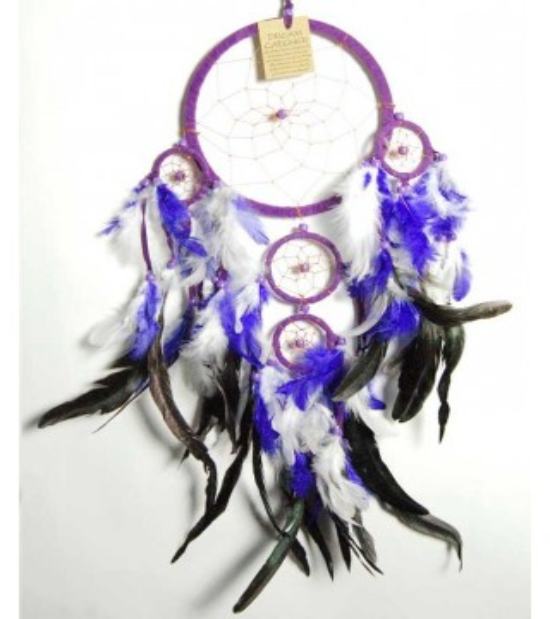 Attrape rêve blanc et violet