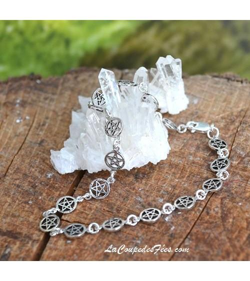 Bracelet Pentacles en Argent