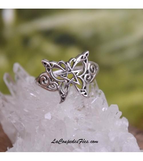 Bague Papillon Celtique en Argent