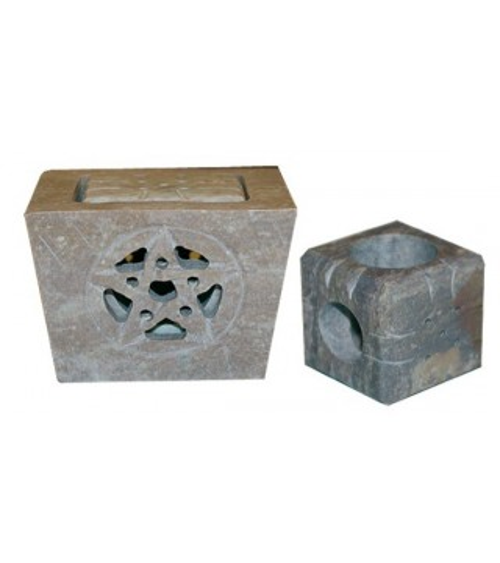 Porte Bougies et Encens en pierre