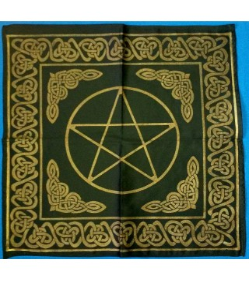 Nappe Noire Pentagramme (60 X 60 )