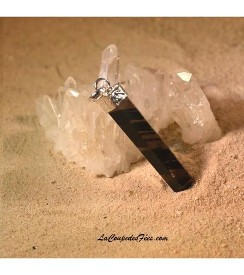 Pendentif Pointe en Obsidienne Midnight lace