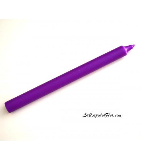 Cierge violet en cire végétale