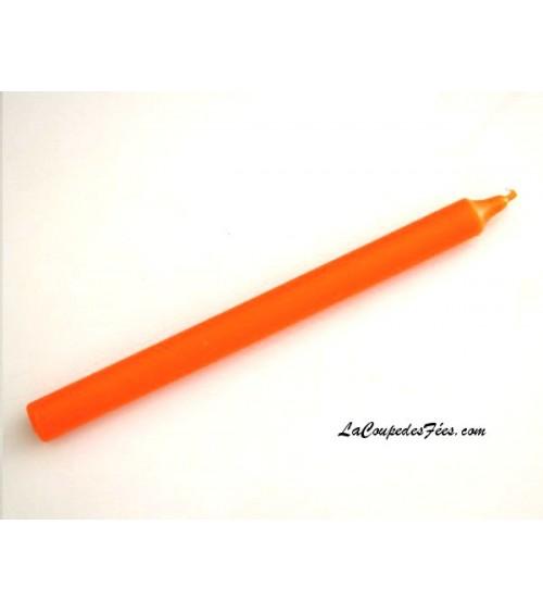 Cierge orange en cire végétale