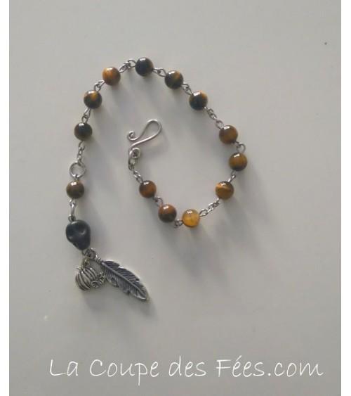 Bracelet échelle 13 lunes Oeil de Tigre