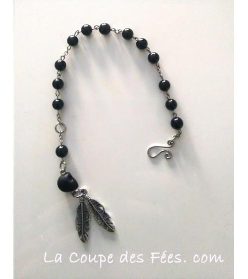 Bracelet 13 Lunes en Obsidienne Oeil céleste