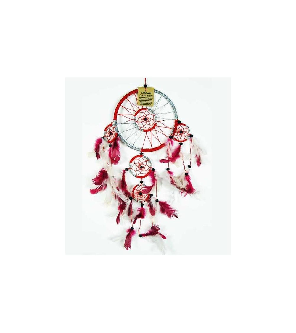 Attrape rêve Rouge et Blanc