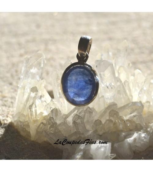 Pendentif Saphir bleu et Argent