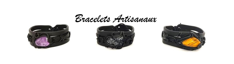 Bracelet en pierre naturelle et résine